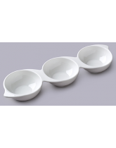 Three Part Serving Dip Dish