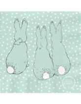 Peter Rabbit Contemporary Printed Napkins - Cotton Tail