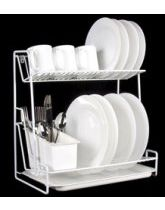 two tier dish drainer